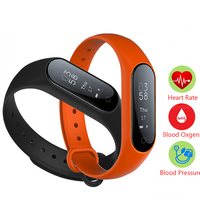 0 87 OLED Smart Watch Blood Pressure Heart Rate Monitor Fitness Bracelet Android IOS Smart Band