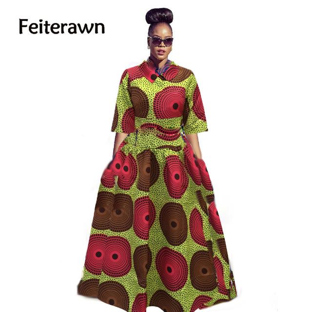 Feiterawn 2017 new arrival hot sales primavera conjuntos de desgaste Sexy impresso balanço grande saia solta mulher estilo nacional moda CM9663