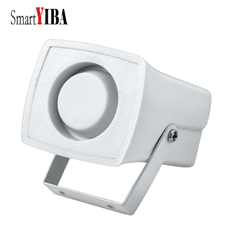 SmartYIBA Mini Wired Siren Horn for WIFI Alarm System for Home Outdoor/Indoor Siren White Color Siren 12VDC Siren Low voltage