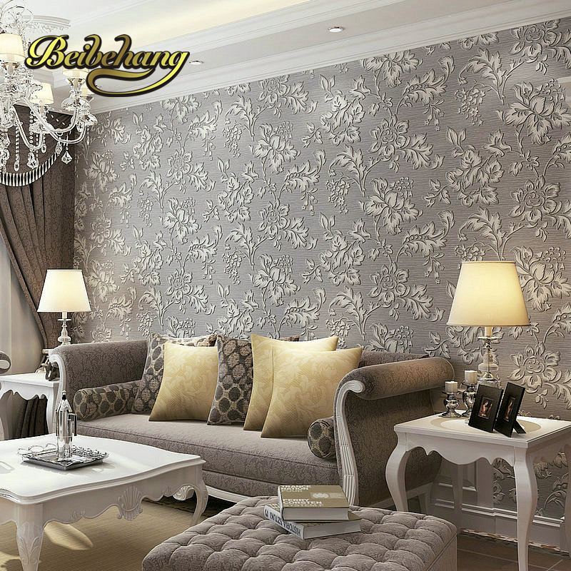 Beibehang Modern Chinese Pastoral Style 3d Thickened Relief Non Woven Wallpaper Living Room Bedroom Bed TV
