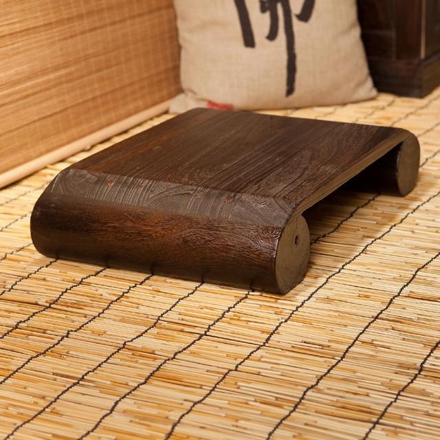Japonés antiguo taburete bajo Banco silla madera de Paulownia ...