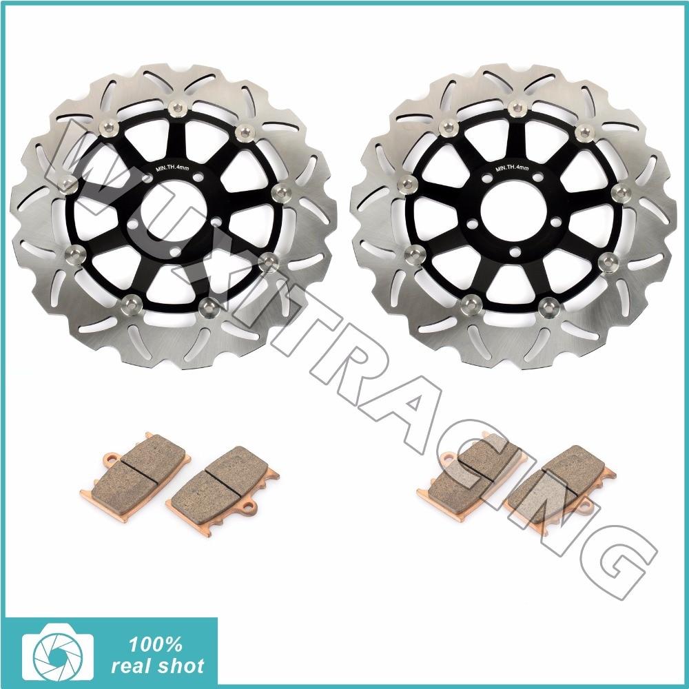 Front Brake Discs Rotors Pads for KAWASAKI KR-1S KR250 90 91 92 ZXR 400 R 89 90 ZZ-R 400 600 90-07 ZX-6R ZX6R 95-97 GPZ 900 R 98 underwood футляр underwood 2610brown