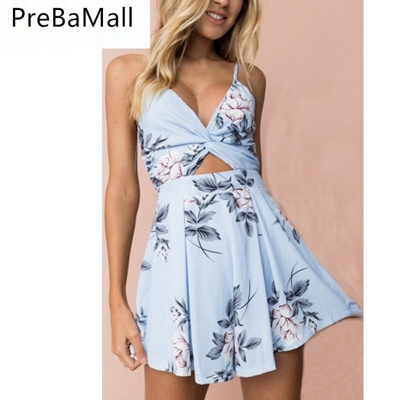 2019 Elegant Boho Maxi Short Dress Womens Evening Party Beach Dresses Sundress Floral Halter Dress Summer C24