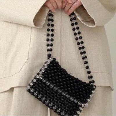 NEW Pearl Bag Lady Bag 2018 New Fashion Chain Shoulder Messenger Bag Luxury Brand Designer Portable Small Package black White