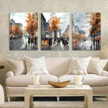 3 Panel Wall Art Painting Home Decor Landscape City Street Pictures Print on Canvas HY44