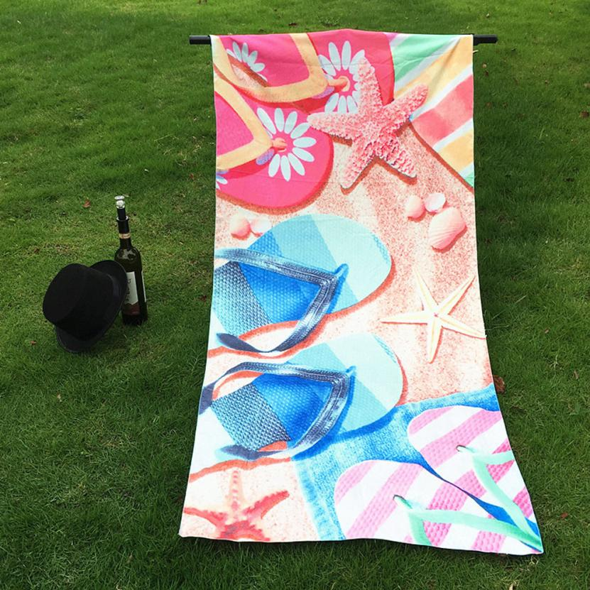 Home Table Cloth shawl summer towel 70*147cm Sandals velour beach towel Polyester Bed Cover best gift for travel 30p