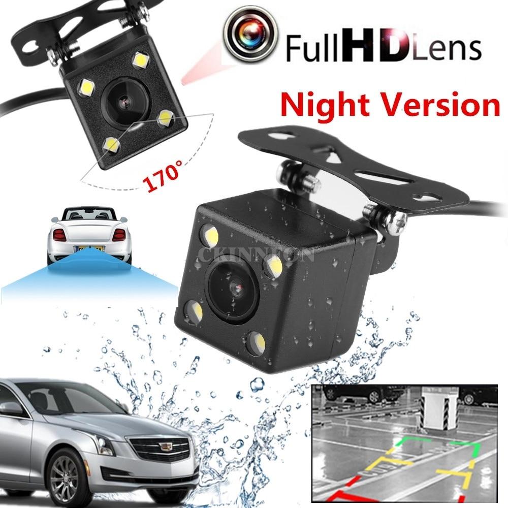 DHL 50 PCS Car Mini LED 170 Waterproof IP67 Camera Night Vision Parking Reversing Assistance Rear
