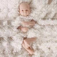 50cm 0.8kg Realistic Silicone Reborn Doll Newborn Baby Girl boy Infant Toddler smooth Skin High Quality doll kit DIY Accessories