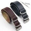 2PCS/lot Leather Watch Strap 20mm 22mm 24mm ,Zulu Strap, NATO watchbands