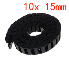 10 x 15mm Cable Drag Chain Carrier Black Plastic for CNC Router Machine Tools