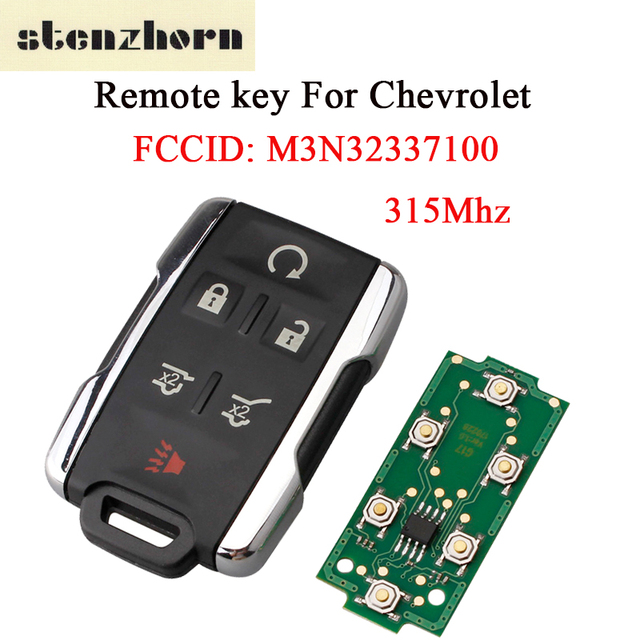 Stenzhorn Remote Key For Chevrolet M3n32337100 Car Fob 315mhz Tahoe Suburban 2017 2016 2018 5 1 Ons