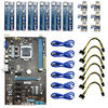 6GPU Mining Motherboard With 6pcs PCI E Riser Card PCIE 1x To 16x Adapter Extender 1x
