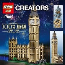 LEPIN 17005 Creator Big Ben Elizabeth Tower Model Building Kits Minifigures Brick Toys Compatible with 10253 Gift 4163pcs