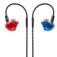 Wooeasy DIY UE Custom Made Rond Ear Oortelefoon Balanced Armature Dual Unit In-Ear Dynamische HIFI Oordopjes Stereo Headset