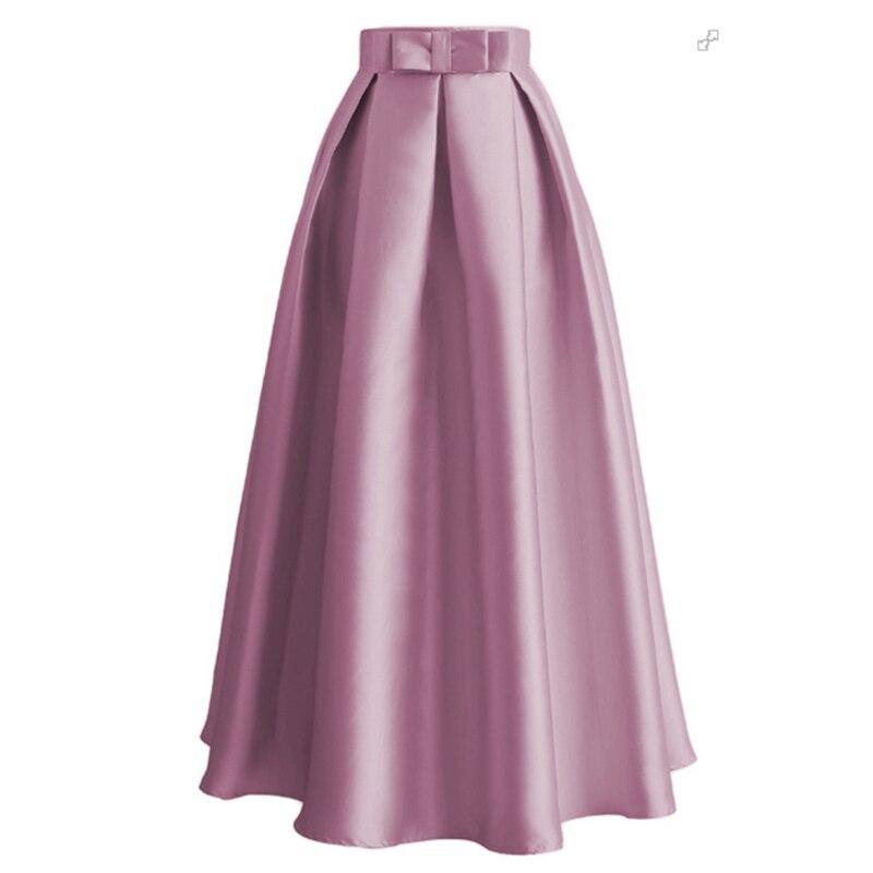 c34ef04d4d7 Юбки большого размера Faldas Mujer Moda 2019 Весна Абая Дубай турецкий  длинные Peated Макси Высокая талия юбка для женщин Jupe Longue Femme