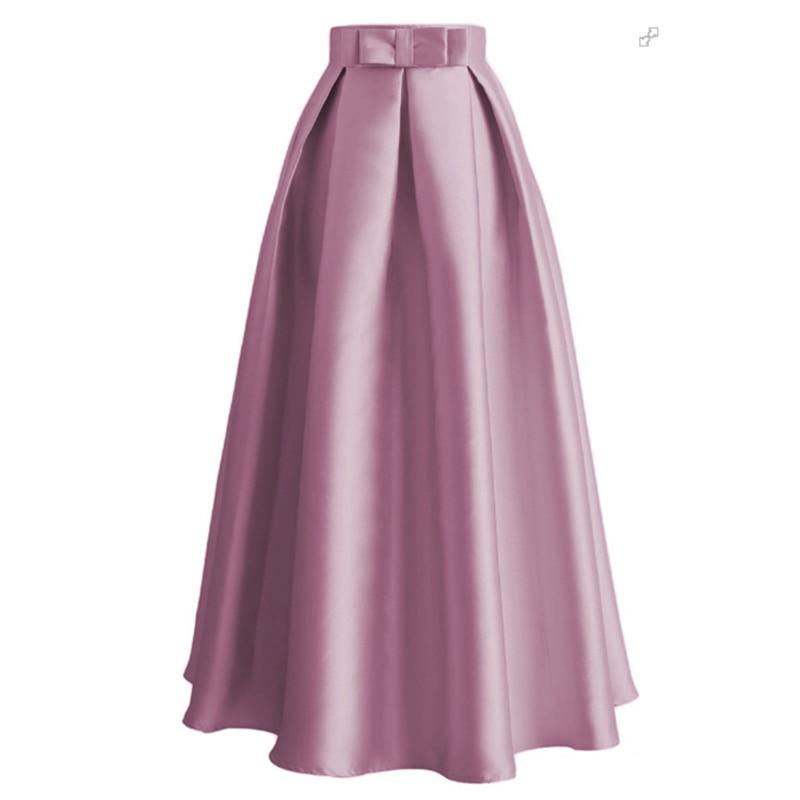 Plus Size Skirts Faldas Mujer Moda 2019 Abaya Dubai Turkish Long Pleated Maxi High Waist Skirt Women Jupe Longue Femme Skirts