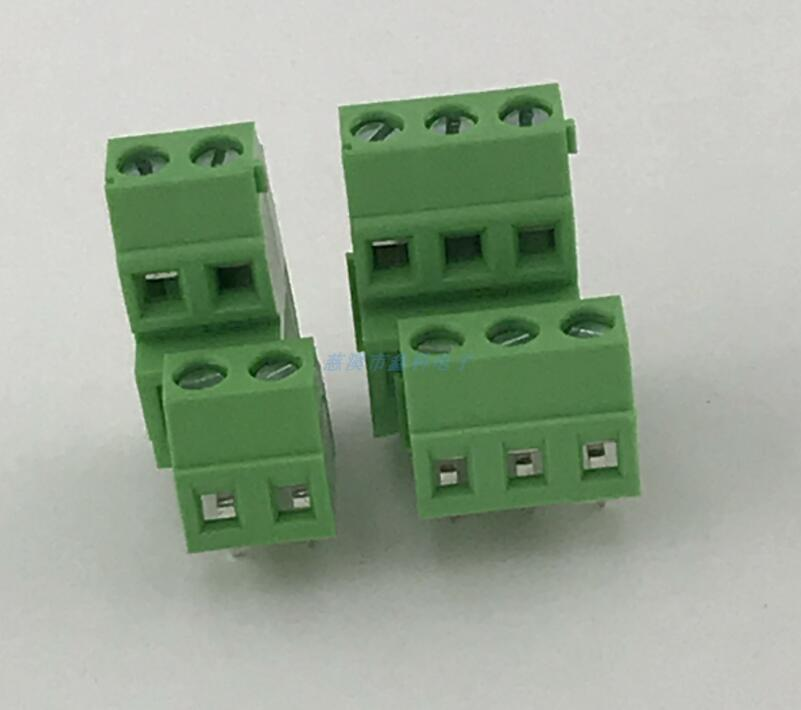 20PCS Screw type PCB <font><b>terminal</b></font> <font><b>block</b></font> double high and low dislocation bit <font><b>terminal</b></font> XK128A-<font><b>3.5MM</b></font> green <font><b>terminal</b></font> <font><b>block</b></font> image