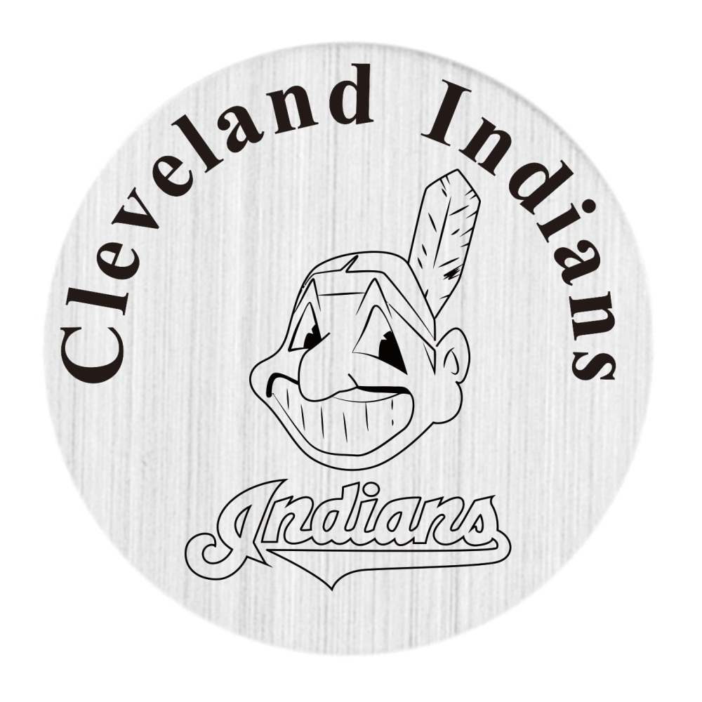 20 Pcs 316L Stainless Steel Plate Cleveland Indians Locket Plate Fit For 30mm Living Floating Glass Memory Locket