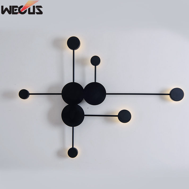 (WECUS) Postmodern wall lamp creative personality home living room video wall bedroom bedside Big Dipper wall lamp элемент салона big dipper