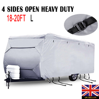 Mayitr Caravan Campervan Cover Car Covers Waterproof UV 4 Sides Open Heavy Duty Dust Protecter Exterior Accessories S/M/L/XXL