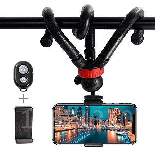 Octopus Action Camera Phone Flexible Mini Tripod Monopod Camera Travel Tripod With Wireless Action For Phone Gopro 5 6 7 Samsung