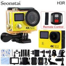 Действий Камеры 4 К H3R Оригинального Пульта Ду Действий Камеры Ultra HD wi-fi 1080 P Двойной Экран 2.0 «170D Go Шлем Pro 30 М Водонепроницаемый камера