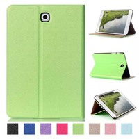 Ultra Slim Luxury Folio Stand Leather Skin Magnetic Smart Sleep Wake UP Cover Case For Samsung