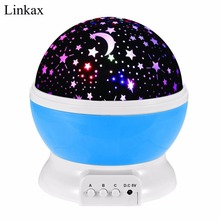 Romantic Dream Rotating Projection Lamp USB LED Night Light Sky Moon Star Master Projector for Kids Baby Sleep Lighting