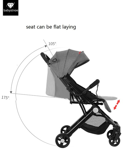 Portable foldable lightweight baby stroller pushchair pram,get into plane, flat laying,fit for newborn 0-3 years baby