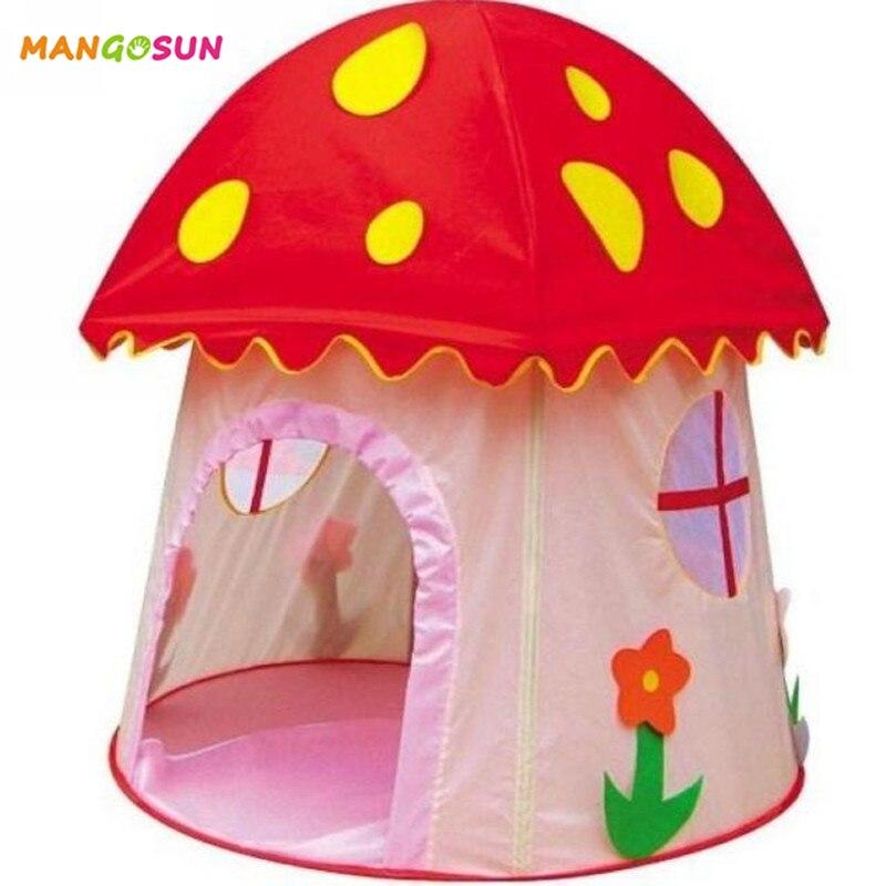 Oyuncaklar ve Hobi Ürünleri'ten Oyuncak Çadırlar'de Çocuk Oyun Çadırı Mantar Katlanabilir Oyun Evi Kapalı Açık Oyuncak Kız Prenses Kale En Iyi Yaz Hediyeler'da  Grup 1