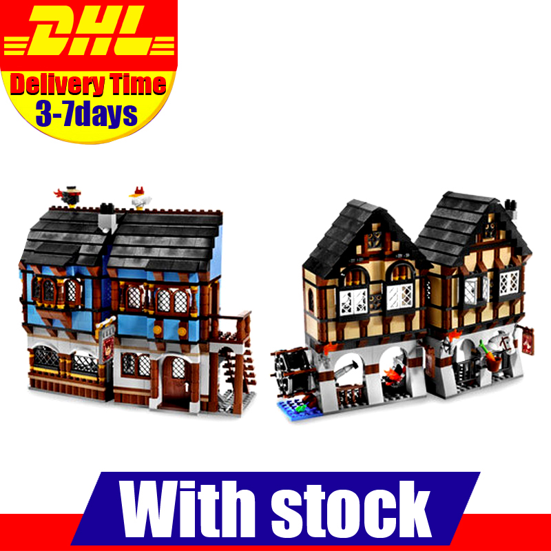 2017 LEPIN  16011 1601Pcs Castle Series The Medieval Manor Castle Set Educational Building Blocks Bricks Model Toys Gift 10193 ynynoo lepin 02043 stucke city series airport terminal modell bausteine set ziegel spielzeug fur kinder geschenk junge spielzeug