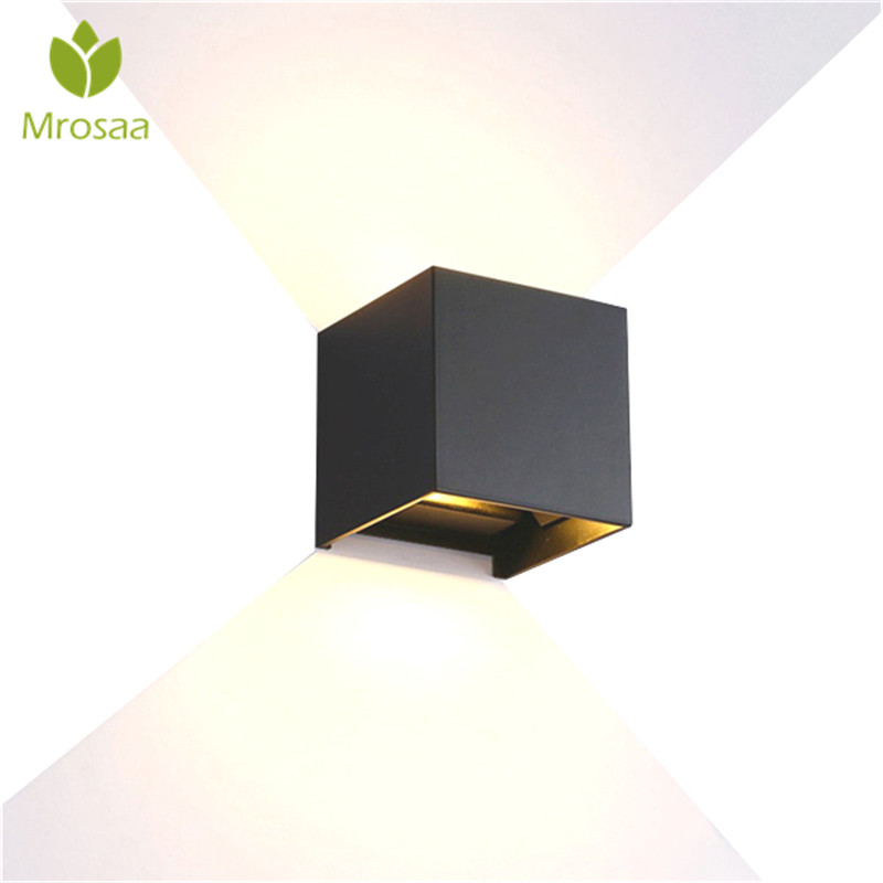 IP65 Waterproof 12W Indoor Outdoor Led Wall Lamp Modern Aluminum Adjustable Surface Mounted Cube Led Garden Porch Light