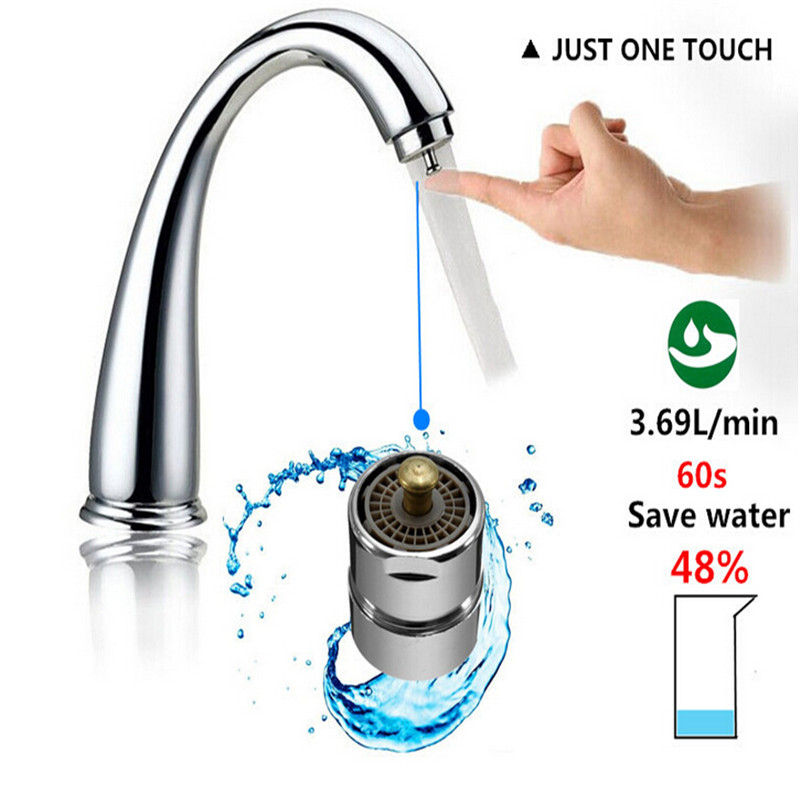 touch control faucet aerator water valve water saving one touch tap aerator kitchen bathroom save water spouts faucet