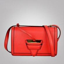2016 women messenger bags genuine leather triangle insert package crossbody bag high qualit shoulder bag bolsos sac a main