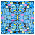 2016 Silk Scarves Abstract Geometric Cobblestone Lady Small Square Satin
