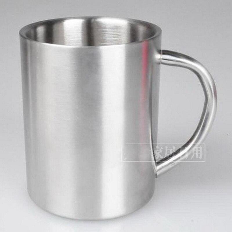 Двоструки слој против вруће металне креативне моћне шалице за кафу од нехрђајућег челика