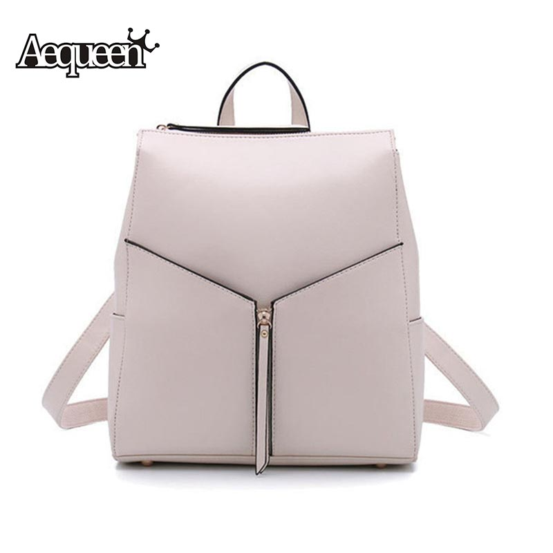 AEQUEEN Womens Leather Backpacks Women Tassel Fashion Zipper Ladies Shoulder Bags Backpacks School Bags For Teenagers