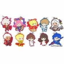 Fate/Extella Rubber pendant Nero Karuna No Name Japanese anime cartoon PVC Toy Figures Mobile Phone Accessories strap Keychain недорого