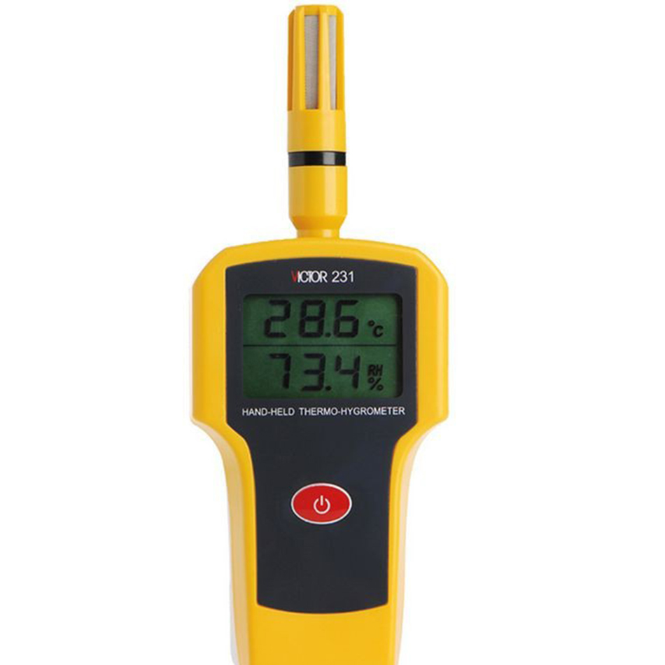 VC231 Temperature And Humidity Tester Industrial Handheld Hygrometer Thermometer Sensor Industrial Non-condensing Bronze Filter mini type humidity temperature meter handheld hygrometer thermometer tester