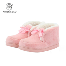 Women Winter Warm Fur Slippers Cotton Pink Lovers Home Indoor Plush Size House Shoes Woman Wholesale