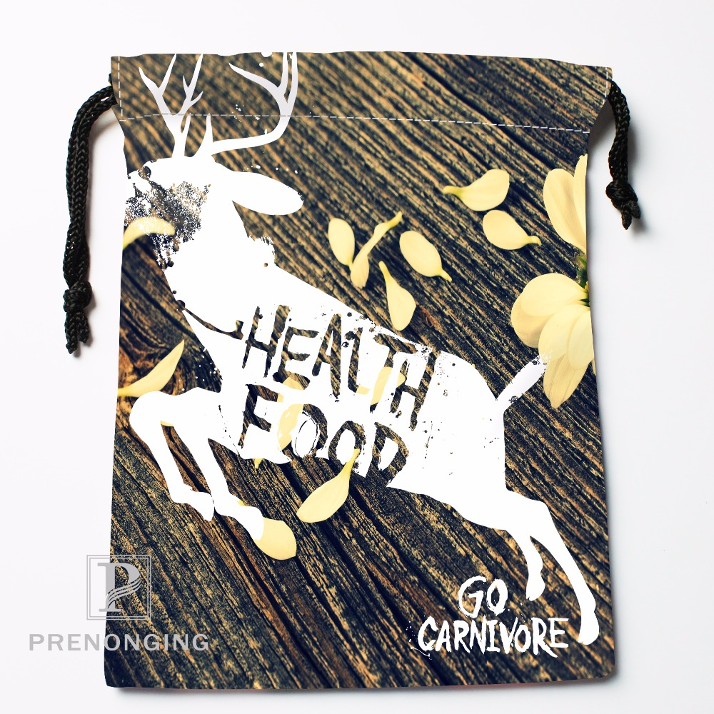 Custom Nebula Deer @01 Drawstring Bags Printing Fashion Travel Storage Mini Pouch Swim Hiking Toy Bag Size 18x22cm #171208