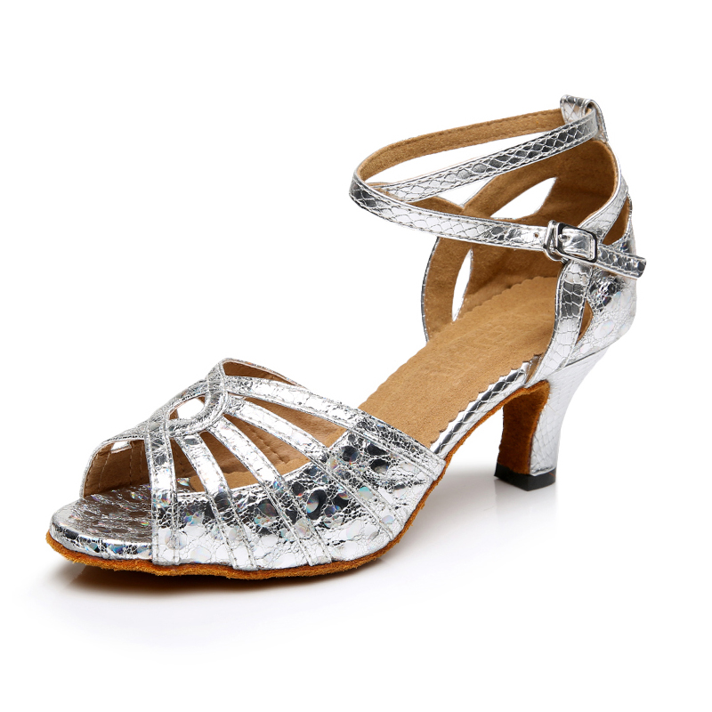 White Glitter Jazz Shoes