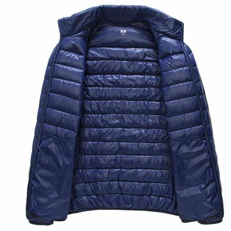 メンズ秋冬アヒルダウンジャケットの通気性ジャケット男性屋外コートパーカーやつプラスサイズ S-5XL