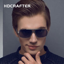 HDCRAFTER New Fashion  Men's Sunglasses UV400 Polarized coating mirrors Oculos Eyewear for Driving