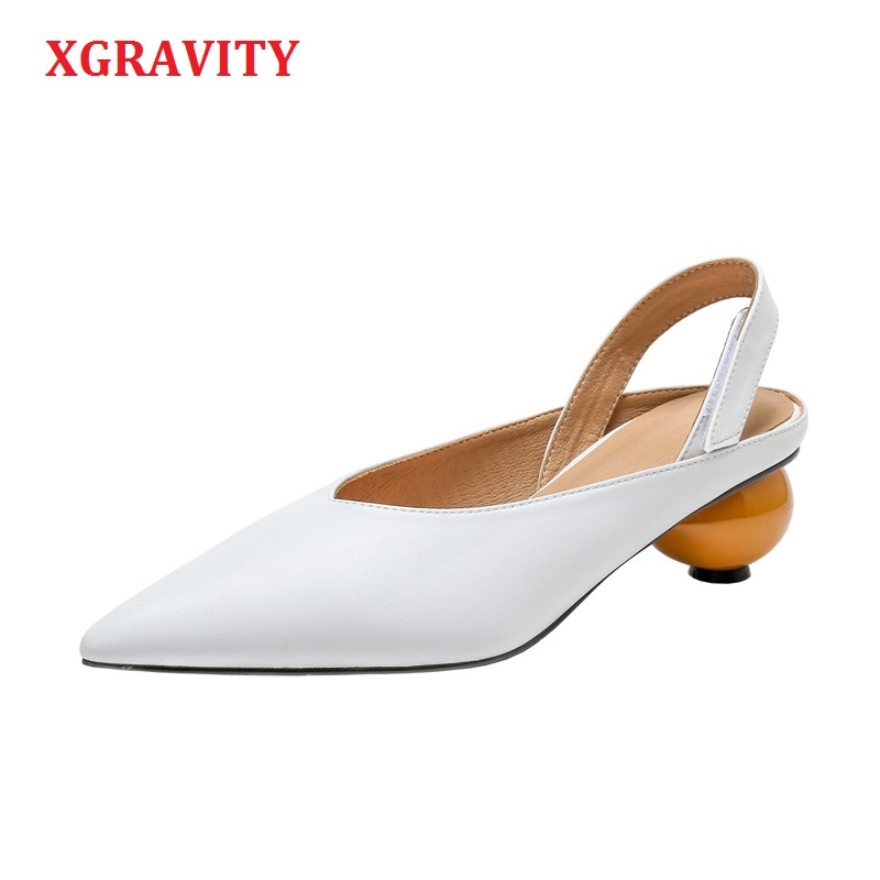 XGRAVITY Spring Summer Shoes Sexy New Fashion Pointed Toe Dress Shoe Ladies Summer Women High Heel