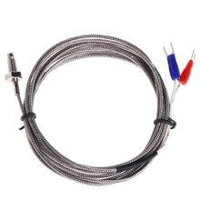 цена на Thread M6 Screw Probe Temperature Sensor Thermocouple K Type Range 0-400 Degree 2m Cable for PID Controller Thermometer
