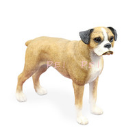 PEI PEI Cute Puppy Statue Simulation Animal Boxer Dog Standing Creative Home Decor Action Figure Collectible Model Toy P1375