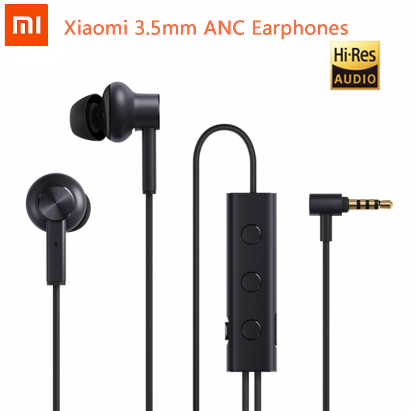 Original Xiaomi 3.5mm ANC Earphone Hybrid 3 Unit 2 Grade Noise Cancel Active Noise Cancelling Hi Res Earphones