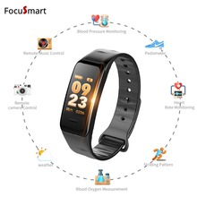 FocuSmart 2018 New Color screen Smart bracelet IP67 wristband heart rate monitor Blood pressure Bracelet Fitness Tracker band
