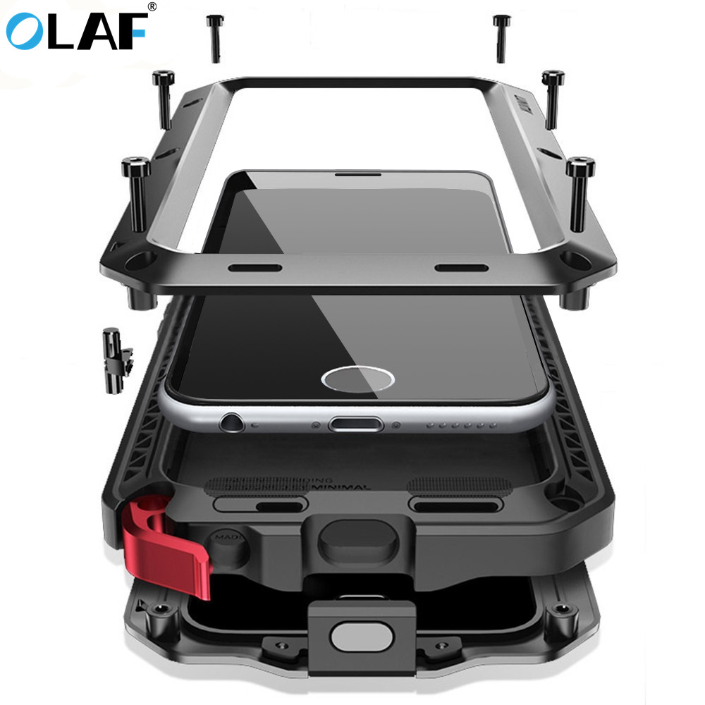 OLAF Luxury Doom Armor Heavy Duty Case Metal Case Shockproof Cover For Samsung S5 S6 S6 edge S7 S8 S8plus Note 8 9 S9 Plus CaseOLAF Luxury Doom Armor Heavy Duty Case Metal Case Shockproof Cover For Samsung S5 S6 S6 edge S7 S8 S8plus Note 8 9 S9 Plus Case